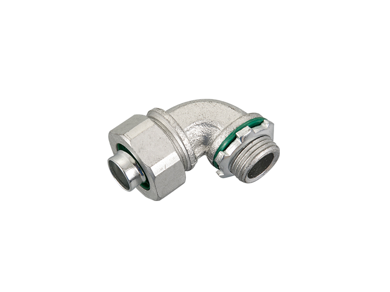 Malleable iron liquid tight connector 90°