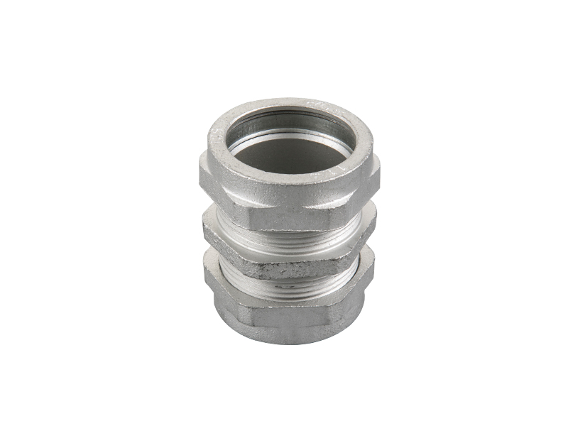 Malleable iron rigid compression coupling