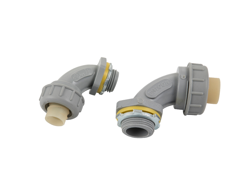 Non metallic liquid tight 90 connector pvc